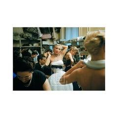 Backstage Balmain Blonde in Choker, 1954