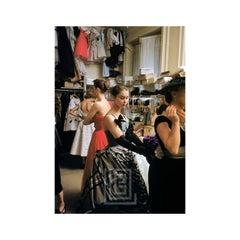 Backstage Balmain Tartan Gown, 1954