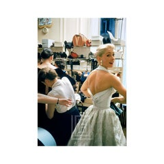 Backstage White Halter Looks Back, 1954