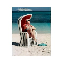 Beach Striped Chair, Circa 1955