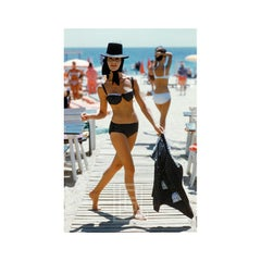 Black Bikini on St. Tropez Boardwalk 1961