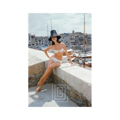 Christine Mayer St. Tropez Bikini Black Hat, 1961