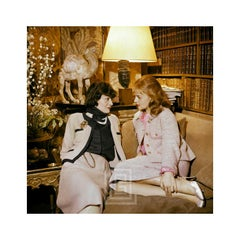 Coco Chanel and Jeanne Moreau, Color, 1957
