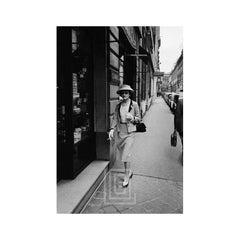 Coco Chanel Enters Her Paris Boutique, 1957