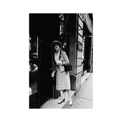 Coco Chanel Enters her Shop on the Rue Fauborg St. Honore, 1957