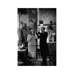 Mark Shaw Adjusts Jeanne Moreau's Hair, 1957