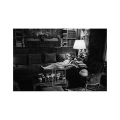 Coco Chanel Lies on Divan, 1957