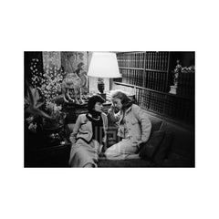 Coco Chanel Visits with Jeanne Moreau, 1957