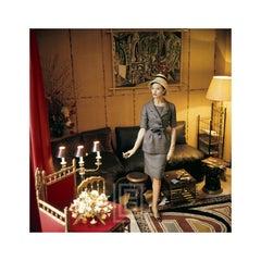 Designers' Homes, Dior Gray Suit Smoking, 1960