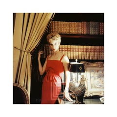 Designer's Homes Dolores Guinness the daughter of Gloria Guinness wears Red Dior