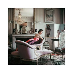 Designer's Homes, Ghislaine Lounges in Elsa Schiaparelli's Home, Back, 1953