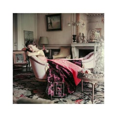 Designer's Homes, Ghislaine Lounges in Elsa Schiaparelli's Home, Front, 1953