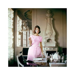 Designer's Homes, Model wears Pink Goma in Henry Samuel's Home, 1960