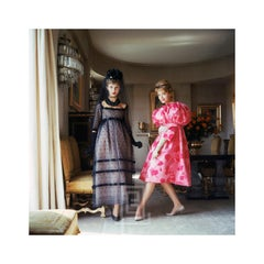 Designer's Homes, Two Girls in Pink and Black, 1958