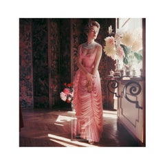 Designers' Homes, Viky Reynaud wearing Desses Dahlias, 1953