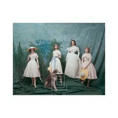 Dior, Gainsborough Girls, Studio with Afghan, 1956