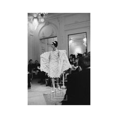 Dior, model wearing Feria Ensemble, 1961