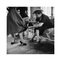Dior Victorine dress, Buyer Inspects, 1953