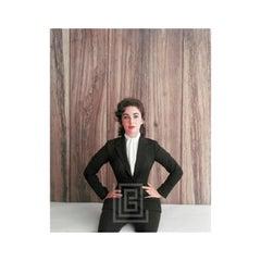 Elizabeth Taylor Black Suit, Hands on Hips, 1956