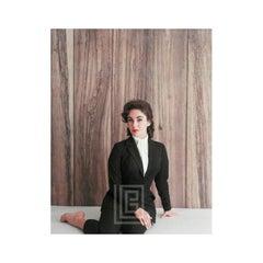 Elizabeth Taylor Black Suit, Sits to the Side, 1956