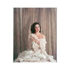 Elizabeth Taylor in Frills, Portrait with Bare Shoulder, 1956
