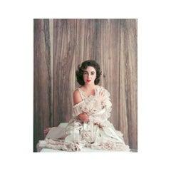 Elizabeth Taylor in Frills with Hand on Shoulder, 1956