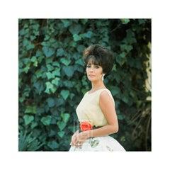 Elizabeth Taylor in Yellow Chiffon, Side View 1, 1961