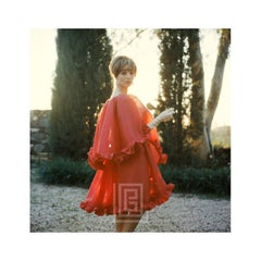 Elsa Martinelli in Red Chiffon Circa 1960