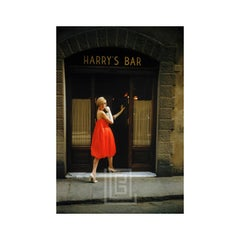 Fabiani Bag Dress Outside Harry's Bar, Paris, 1957