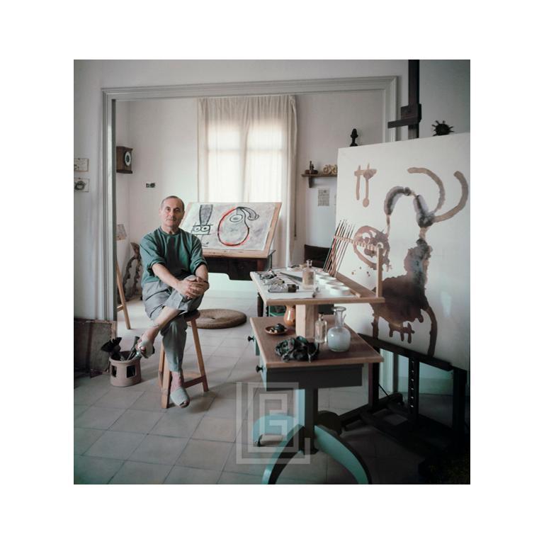 Mark Shaw Color Photograph - Joan Miro in Studio, 1955