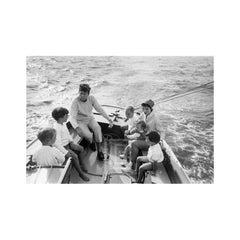 Kennedy, Family Sailing Nantucket Sound, 1959
