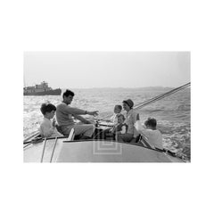 Kennedy, Family Sailing Nantucket Sound, Boat in Distance, 1959