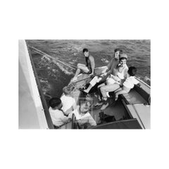 Kennedy, Family Sailing Nantucket Sound, Close Up, 1959