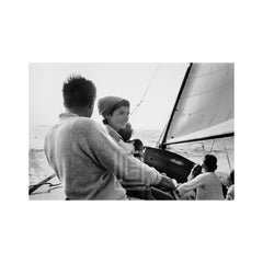 Kennedy, Family Sailing Nantucket Sound, Jackie Prominent,1959