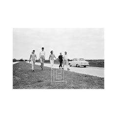 "Kennedy, Jackie and Lee Radziwill, ""The Hike"" Sunshine Parkway, Florida, 1963"