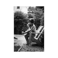 Kennedy, Jackie Helps Caroline with Shoe, 1959