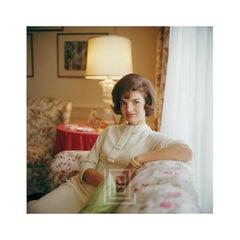 Kennedy, Jackie on Sofa, 1961