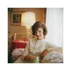 Kennedy, Jackie on Sofa, Close, 1961