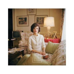 Kennedy, Jackie on Sofa, Hands on Lap, 1961