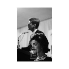 Kennedy, Jackie with JFK at Podium, 1959