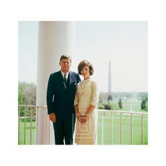 Kennedy, JFK and JBK Color Portrait with Monument, 1961