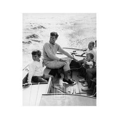 Kennedy, JFK Sailing off Hyannis Port, 1959