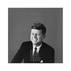 Kennedy, John F. Portrait, Left Shoulder Front, Smiling, 1959