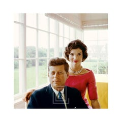 Kennedy, John with Jackie in PInk, Yellow Room, RAP Book Cover, 1959