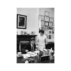 Kennedys, Jackie in JFK's Senate Office, 1959