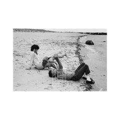Kennedys, John Lifts Caroline on Beach