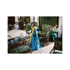 Lee Radziwill, Blue Cape in Brocade Room, 1962