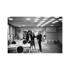 Mark Shaw in Showroom with Yves St. Laurent