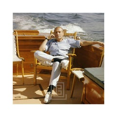 Mark Shaw Seated on Boat