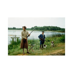 Mme. Rigaud with Spaniel France, 1957.